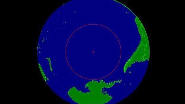 Aquí queda el polo de inaccesibilidad oceánica, conocido como Punto Nemo.