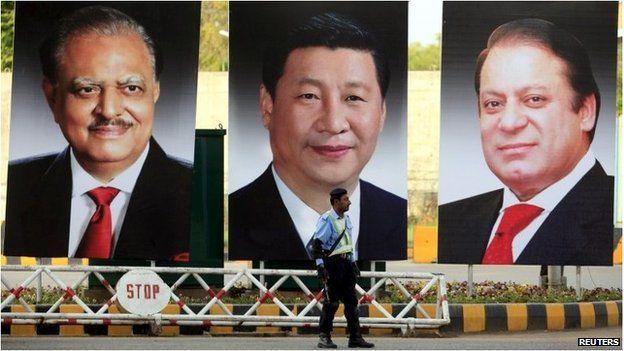 Los presidentes de Pakistán y China, Mamnoon Hussain y Xi Jinping respectivamente, así como el primer ministro paquistaní, Nawaz Sharif, fueron clave para el acuerdo.