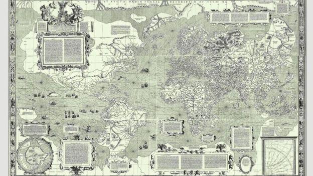 Este es el mapa que puso el norte arriba por primera vez.